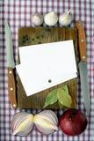 Recetas Foto de archivo libre de regalías