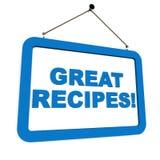 recetas Fotos de archivo