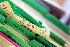 Recetas de la cazuela Fotos de archivo libres de regalías