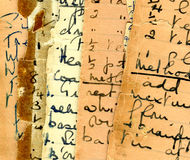Recetas de la vendimia Imagen de archivo