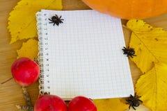 Recetas del otoño Foto de archivo libre de regalías