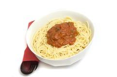 Recette épicée de spaghetti Photographie stock libre de droits