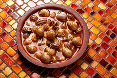 Recette d'escargot de Tapas d'Espagne Photos stock