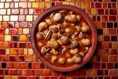 Recette d'escargot de Tapas d'Espagne Image stock