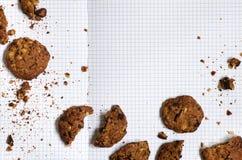 Recette de biscuits de chocolat photo libre de droits