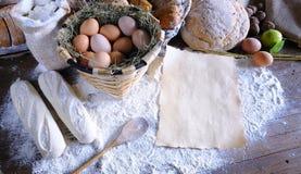 Recette de boulangerie Photos stock