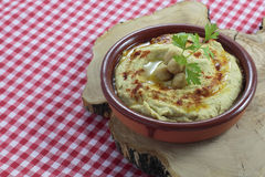 Recette de houmous Photo stock