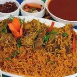 Recette de riz de boeuf de Kapsa image stock