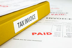 Recette, facture d'impôts et factures photo libre de droits