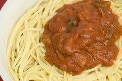 Recette italienne de spaghetti Photographie stock libre de droits