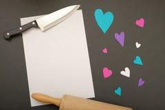 Recette pour l'amour Photo stock