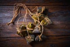 Recette visqueuse de boulettes de riz collant de Zongzi Photographie stock libre de droits