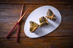 Recette visqueuse de boulettes de riz collant de Zongzi Photo libre de droits