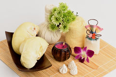 Recettes faciales de masque d'acné avec le fruit et le carbonate de calcium de durian Photographie stock libre de droits