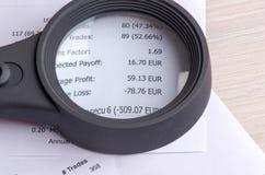 Recettes provenant du commerce sur la bourse des valeurs  Images stock