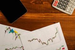 Recettes provenant du commerce sur la bourse des valeurs  Photographie stock
