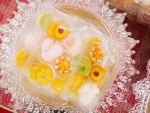 Recettes thaïlandaises de dessert Images libres de droits