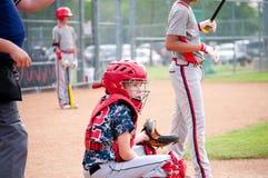 Receveur de base-ball de la jeunesse image libre de droits