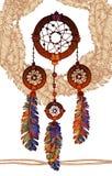 Receveur rêveur traditionnel indien indigène Images libres de droits