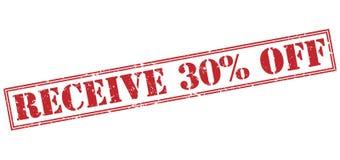 Recevez 30 pour cent outre du timbre rouge illustration de vecteur