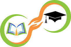 Recevez un diplôme le logo Photo stock