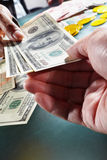 Receving money Stock Photos