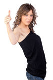 Recevoir modèle attrayant de fille Photo stock