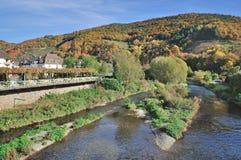 Rech, valle de Ahr cerca de mún Neuenahr, Alemania Fotos de archivo