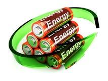 rechargable的电池 皇族释放例证