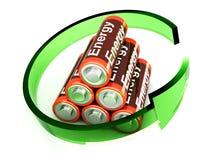 rechargable的电池 库存例证