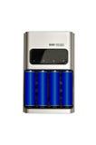 Rechargable batterier och uppladdare Royaltyfri Fotografi