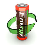 Rechargable Battery. 3D rendered Illustration. Isolated on white. An AA Battery vector illustration