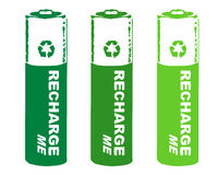 Recharge batteries. Illustration to remind people to use rechargeable batteries Stock Photography