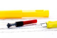 Recharge de stylo-plume image stock