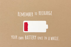 Recharge your battery Royalty Free Stock Photos