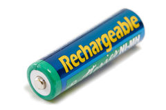 Rechargeable AA Battery Royalty Free Stock Images