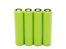 Rechargeable accumulators. Rechargeable technological accumulators for repair of storage batteries Stock Photo