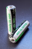 Rechargeable batteries Royalty Free Stock Photo