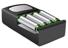 Rechargeable batteries Royalty Free Stock Images