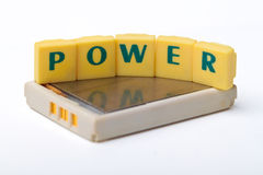 Rechargeable battery power isolation Royalty Free Stock Image