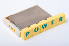Rechargeable battery power isolation Royalty Free Stock Photos