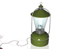 Rechargeable floured lantern Stock Image