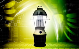 Rechargeable floured lantern Stock Photos
