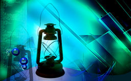 Rechargeable floured lantern Royalty Free Stock Photos