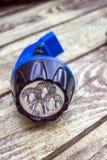 Rechargeable LED flashlight Royalty Free Stock Photo