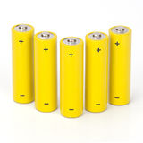 Rechargeables batterier Arkivbild