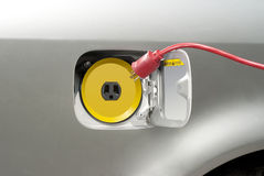 Recharging electric car Royalty Free Stock Image