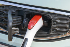 Recharging electric car Royalty Free Stock Photo