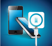Recharging smart phone illustration design Stock Photography