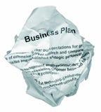 Rechazo del plan empresarial Fotografía de archivo libre de regalías